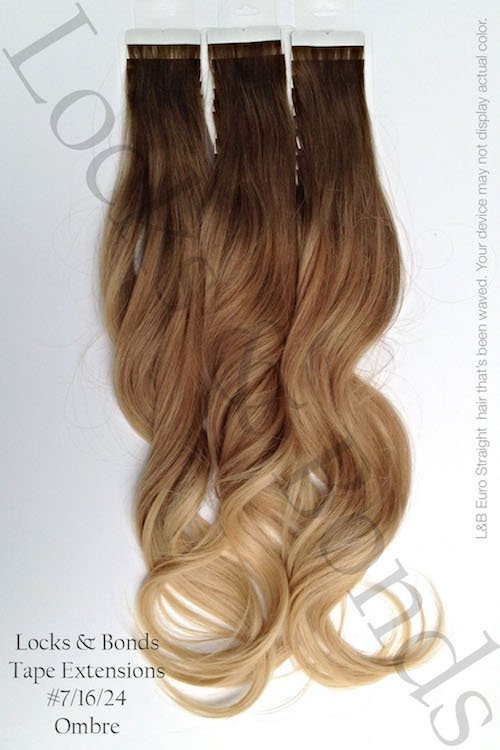 Neutral Brown To Sandy Blonde 22 Inches Remy Human Hair Tape Extensions