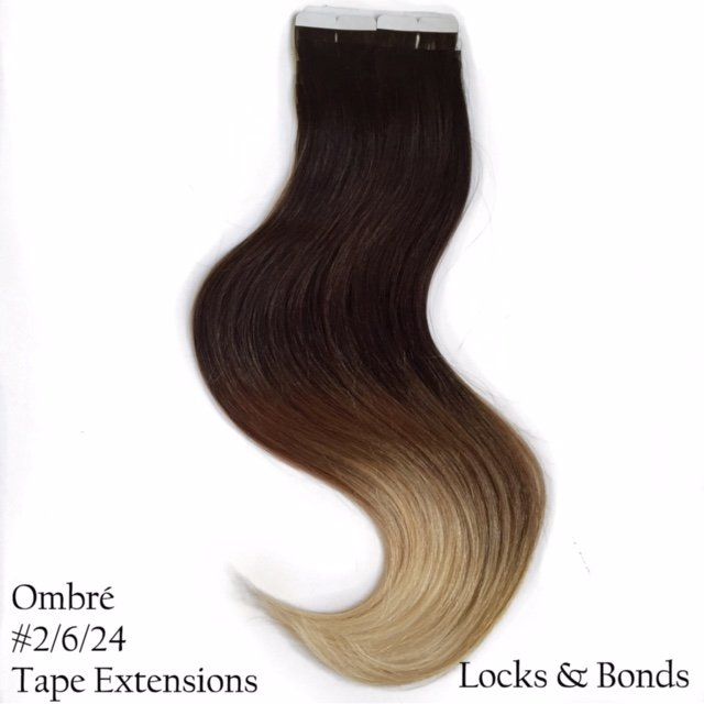 Dark Brown To Sandy Blonde Remy Hair Tape Extensions 18 Inches
