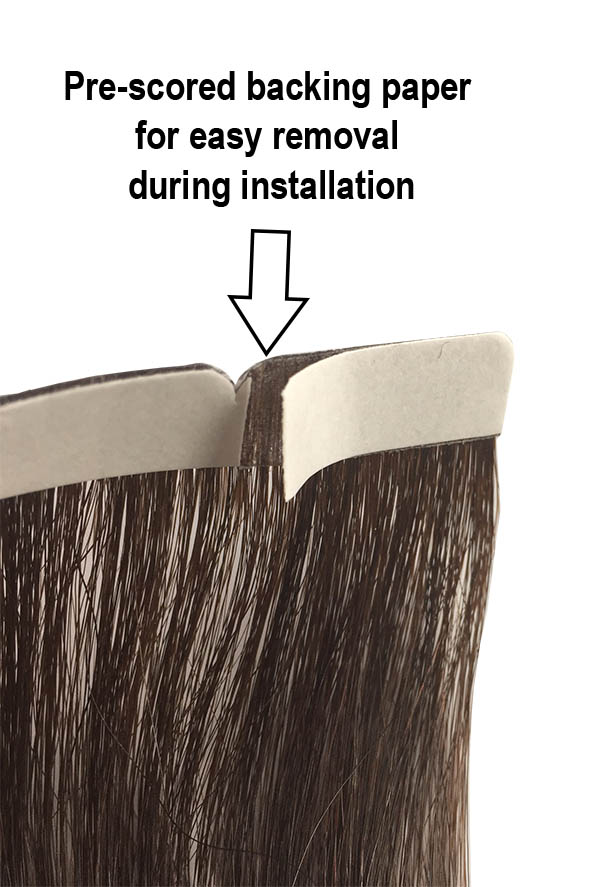 Tape Tabs For Tape In Remy Human Hair Extensions
