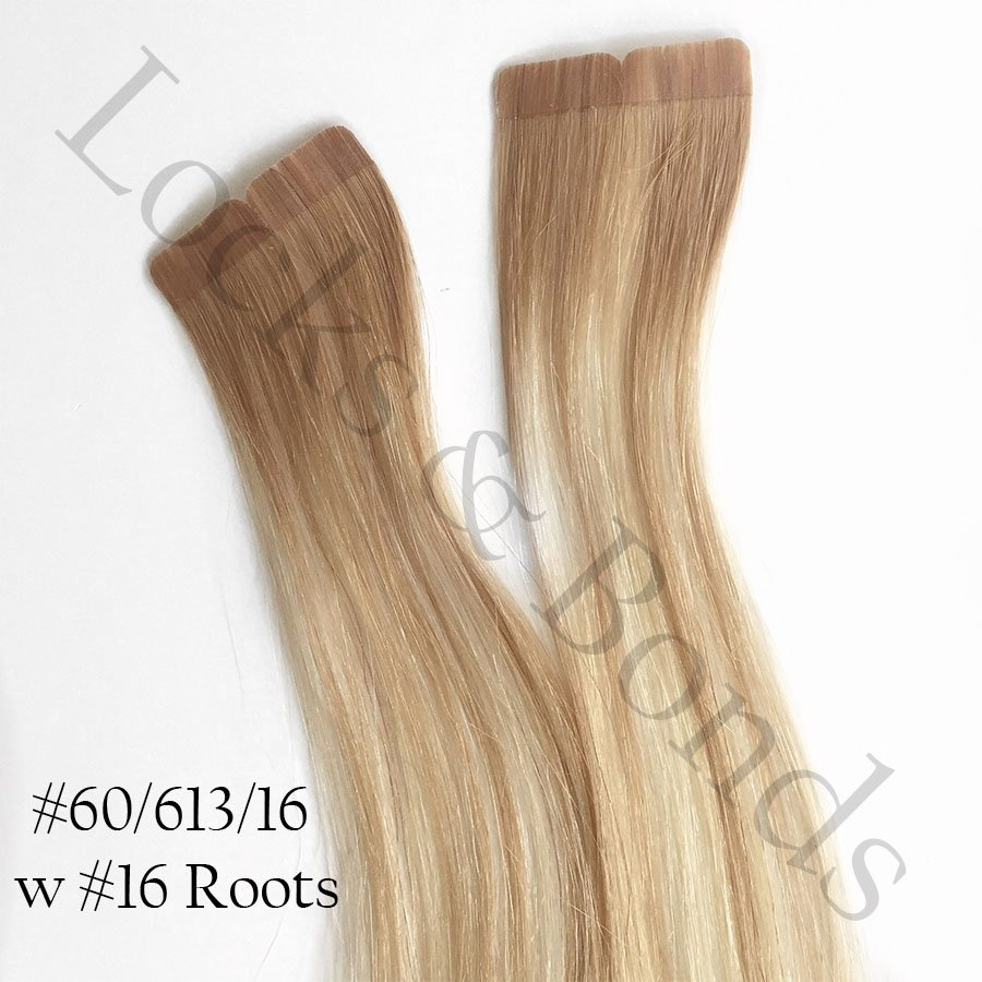 Light To Dark Blonde Blend Virgin Remy 18 Inches Hair Tape Extensions